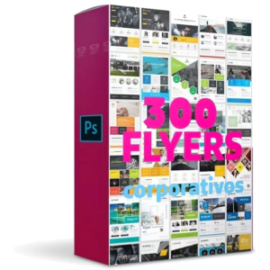 Pack Completo De 300 Flyers Corporativos Editables En Eps