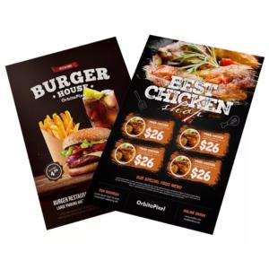 Pack Flyers Editables De Menú/carta Restaurantes Y Bares Psd