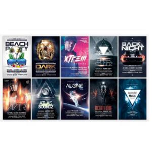 Pack De 100 Flyers Editables Photoshop – Multiples Usos