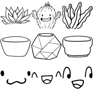 Paquete de Vectores Kit para Plantas y Macetas Sublimar