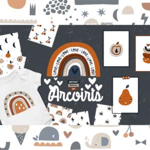 Set De Arcoiris Y Elementos, Fondos, Vectores, Imprimir Png Eps