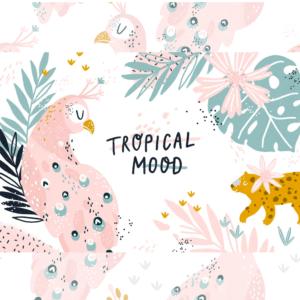 Set Vectores Tropical Animales, Letras Imágenes, Imprimible Png